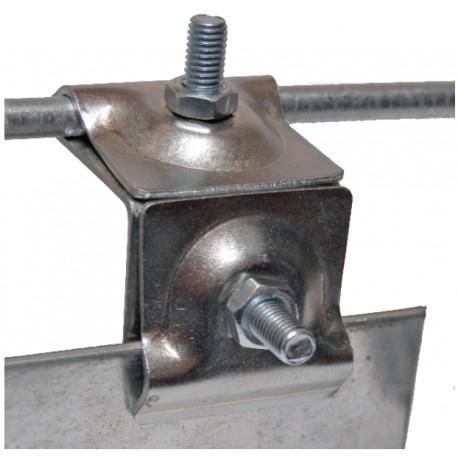 Держатель фальцевый оцинкованная сталь, медь